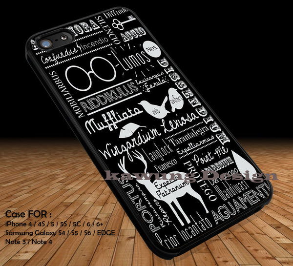 Harry Potter Spell Quote DOP2333 case/cover for iPhone 4/4s/5/5c/6/6+/6s/6s+ Samsung Galaxy S4/S5/S6/Edge/Edge+ NOTE 3/4/5 #movie #hp - Kawung Design  - 1