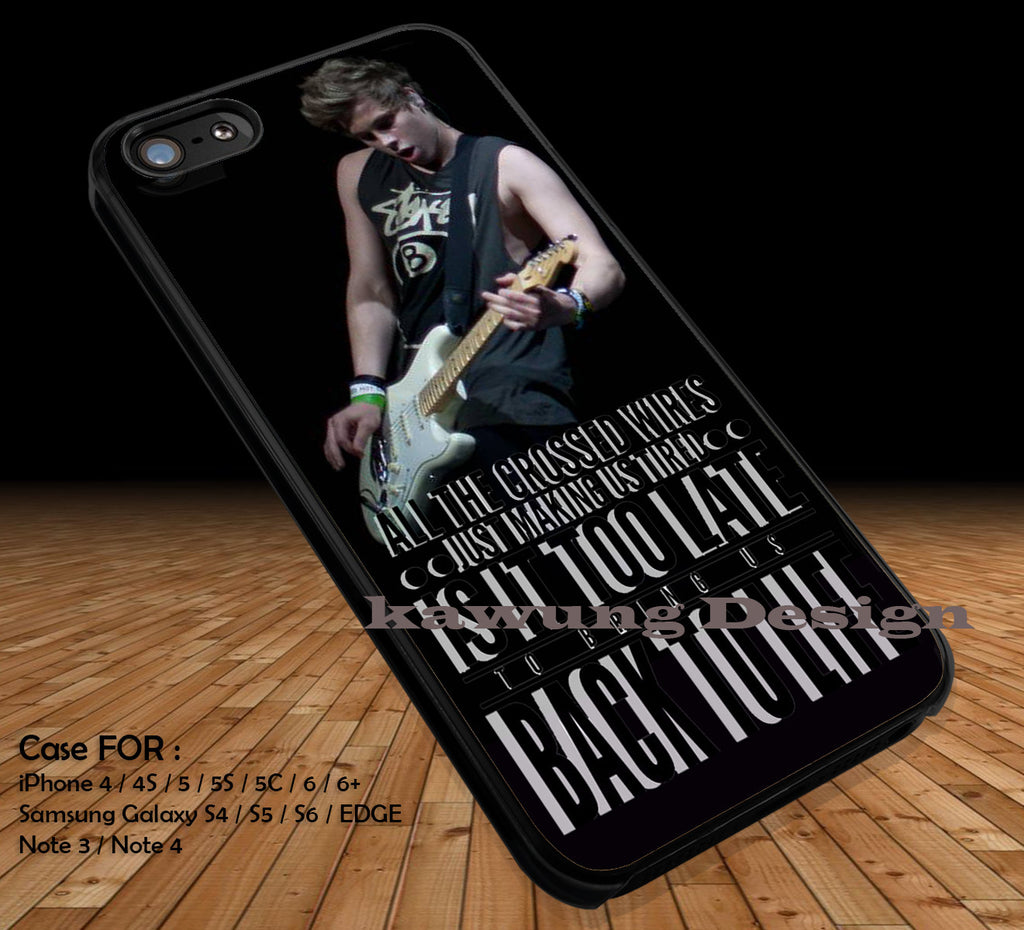 Luke Hammings 5 Seconds of Summer Quote DOP2335 case/cover for iPhone 4/4s/5/5c/6/6+/6s/6s+ Samsung Galaxy S4/S5/S6/Edge/Edge+ NOTE 3/4/5 #music #5sos - Kawung Design  - 1