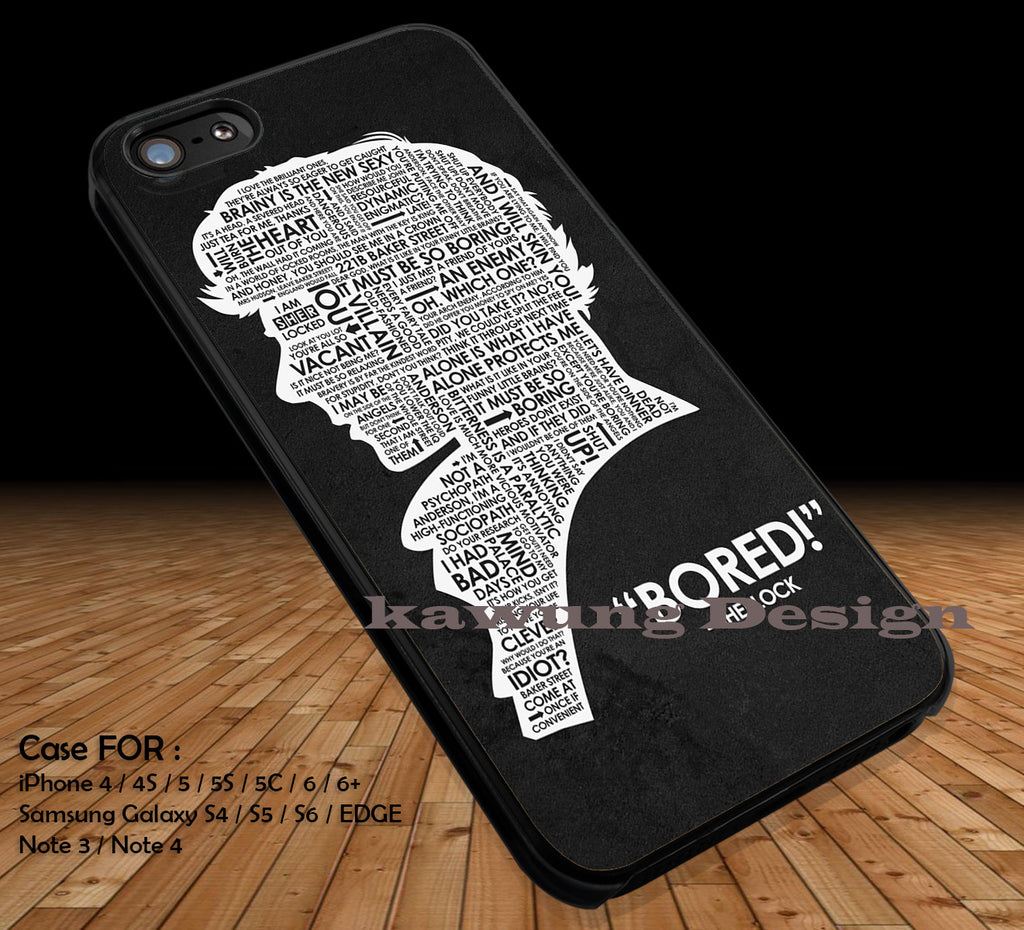 Sherlock Holmes Quote DOP2336 case/cover for iPhone 4/4s/5/5c/6/6+/6s/6s+ Samsung Galaxy S4/S5/S6/Edge/Edge+ NOTE 3/4/5 #movie #sherlock - Kawung Design  - 1