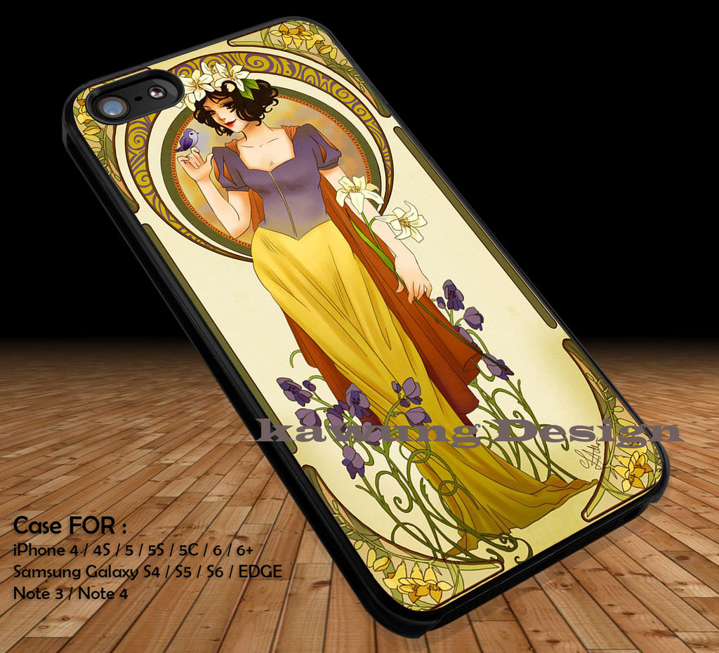 Alphonse Mucha Inspired Snow White iPhone 8+ 7 6s Cases Samsung Galaxy S8 S7 edge NOTE 8 5 4