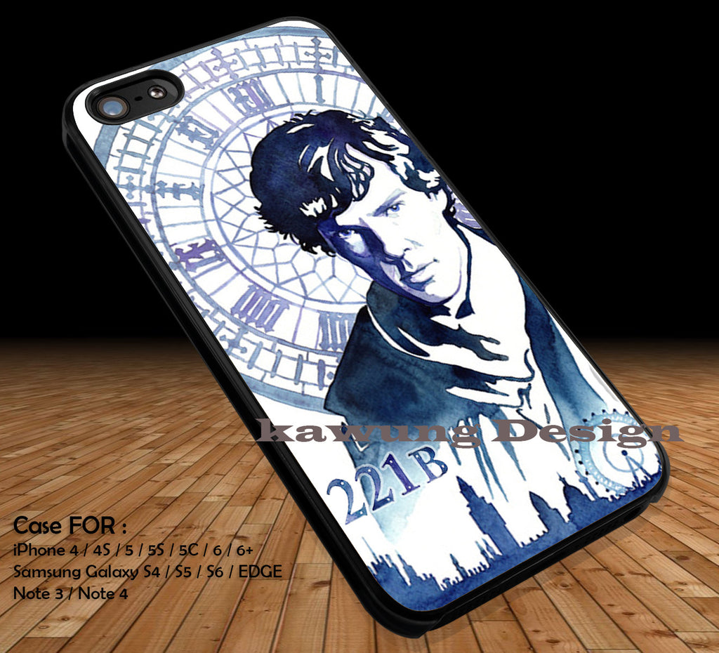 Sherlock Holmes DOP264 case/cover for iPhone 4/4s/5/5c/6/6+/6s/6s+ Samsung Galaxy S4/S5/S6/Edge/Edge+ NOTE 3/4/5 #movie #sherlock - Kawung Design  - 1