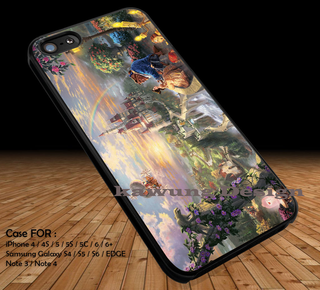 Beauty and the Beast Painting iPhone 6s 6 6s+ 5c 5s Cases Samsung Galaxy s5 s6 Edge+ NOTE 5 4 3 #cartoon #disney #animated #BeautyAndTheBeast DOP27 - Kawung Design  - 1