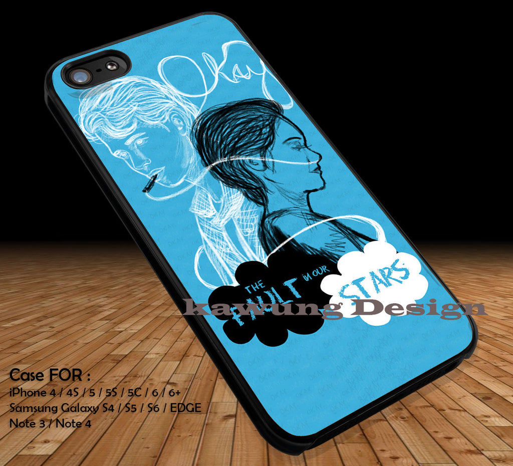 Okay Okay The Fault in Our Stars iPhone 6s 6 6s+ 5c 5s Cases Samsung Galaxy s5 s6 Edge+ NOTE 5 4 3 #movie #TheFaultInOurStars DOP295 - Kawung Design  - 1