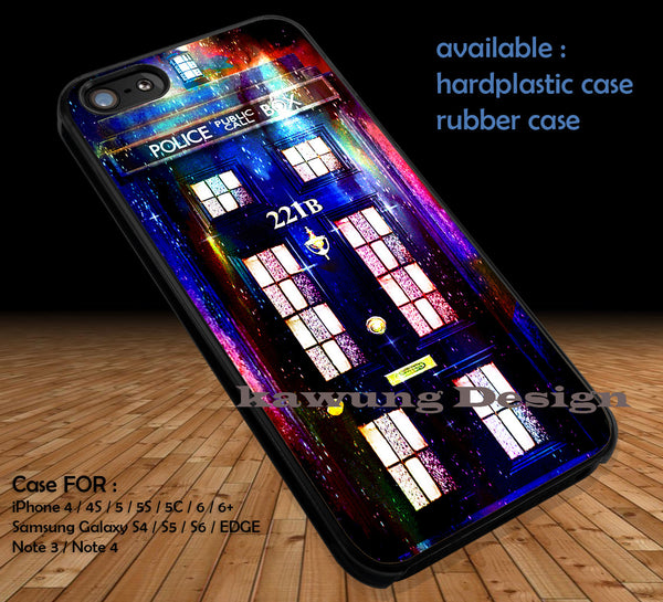 Tardis Sherlock Holmes Galaxy iPhone 6s 6 6s+ 5c 5s Cases Samsung Galaxy s5 s6 Edge+ NOTE 5 4 3 #movie #supernatural #superwholock #sherlock #doctorWho DOP3100 - Kawung Design  - 1