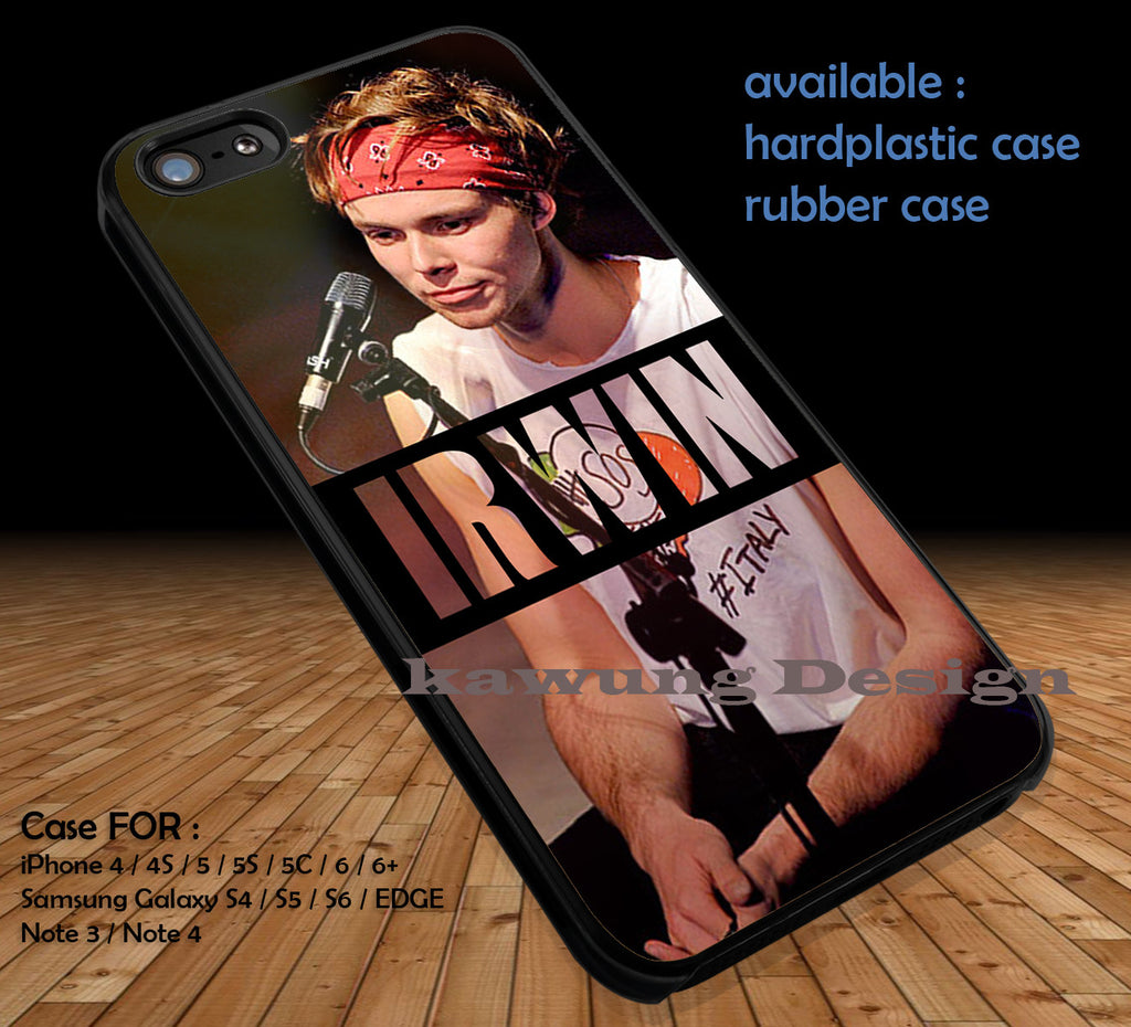 Ashton Irwin 5 Seconds of Summer DOP3119 case/cover for iPhone 4/4s/5/5c/6/6+/6s/6s+ Samsung Galaxy S4/S5/S6/Edge/Edge+ NOTE 3/4/5 #music #5sos - Kawung Design  - 1