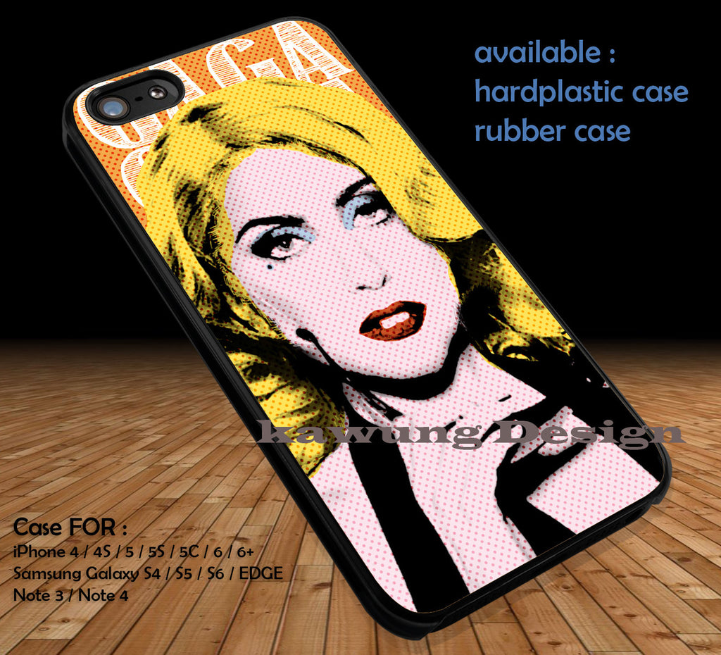 Lady Gaga Pop Art iPhone 6s 6 6s+ 6plus Cases Samsung Galaxy s5 s6 Edge+ NOTE 5 4 3 #music #lg DOP3146 - Kawung Design  - 1