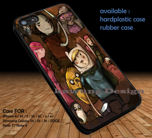 Advanture Time With Finn and Jake Lord of The Ring DOP31 case/cover for iPhone 4/4s/5/5c/6/6+/6s/6s+ Samsung Galaxy S4/S5/S6/Edge/Edge+ NOTE 3/4/5 #cartoon #anime #adventuretime - Kawung Design  - 1