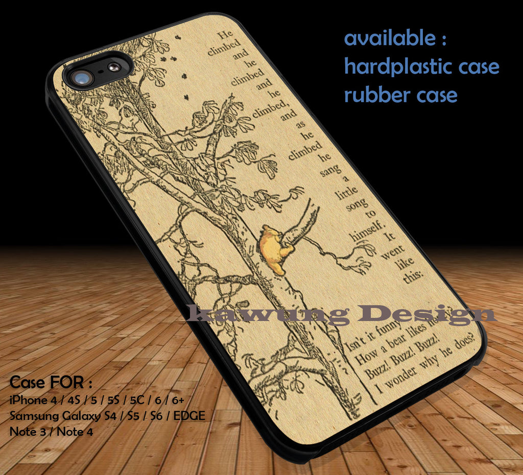Vintage Winnie the Pooh iPhone 6s 6 6s+ 5c 5s Cases Samsung Galaxy s5 s6 Edge+ NOTE 5 4 3 #cartoon #disney #WinnieThePooh DOP351 - Kawung Design  - 1