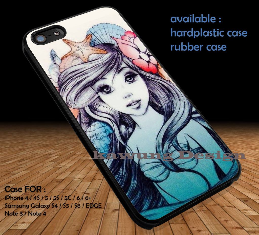 The Little Mermaid DOP35 case/cover for iPhone 4/4s/5/5c/6/6+/6s/6s+ Samsung Galaxy S4/S5/S6/Edge/Edge+ NOTE 3/4/5 #cartoon #disney #animated - Kawung Design  - 1