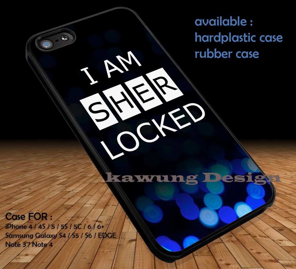 Sherlock Holmes DOP377 case/cover for iPhone 4/4s/5/5c/6/6+/6s/6s+ Samsung Galaxy S4/S5/S6/Edge/Edge+ NOTE 3/4/5 #movie #sherlock - Kawung Design  - 1