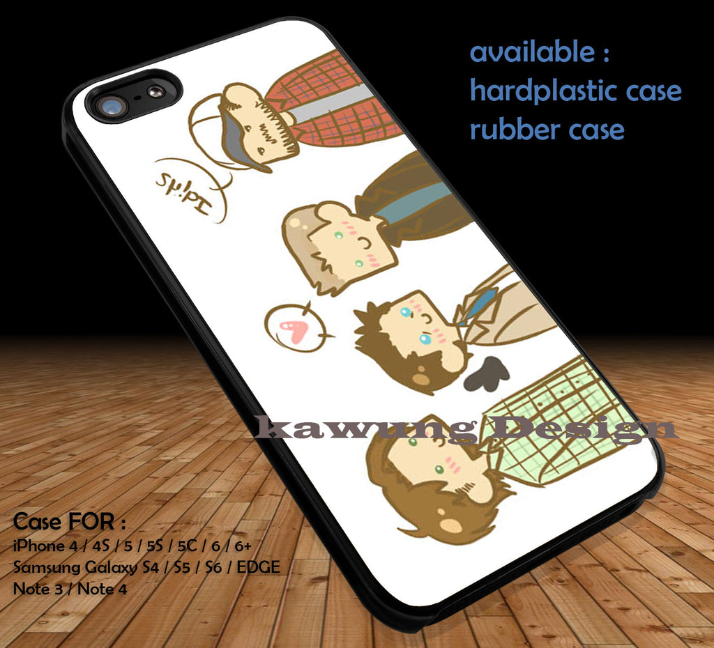 Supernatural Cover iPhone 6s 6 6s+ 5c 5s Cases Samsung Galaxy s5 s6 Edge+ NOTE 5 4 3 #movie #supernatural #superwholock #sherlock #doctorWho DOP391 - Kawung Design  - 1