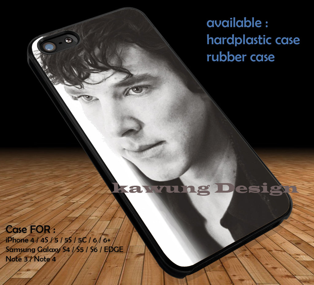 Classic Photo Benedict Cumberbatch iPhone 6s 6 6s+ 5c 5s Cases Samsung Galaxy s5 s6 Edge+ NOTE 5 4 3 #movie #supernatural #superwholock #sherlock #doctorWho DOP4113 - Kawung Design  - 1