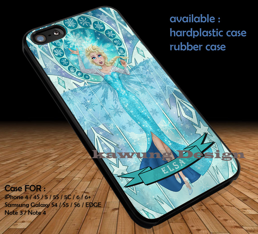 Blue Stained Glass iPhone 6s 6 6s+ 5c 5s Cases Samsung Galaxy s5 s6 Edge+ NOTE 5 4 3 #cartoon #disney #animated  #frozen DOP412 - Kawung Design  - 1