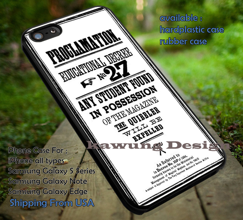 best website e1dab 5331b Proclamation Harry Potter iPhone 6s 6 6s+ 5c 5s Cases Samsung Galaxy s5 s6  Edge+ NOTE 5 4 3 #movie #HarryPotter DOP4161