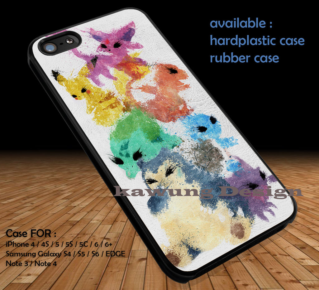 Collage Leather Texture iPhone 6s 6 6s+ 5c 5s Cases Samsung Galaxy s5 s6 Edge+ NOTE 5 4 3 #cartoon #animated #Pokemon DOP416 - Kawung Design  - 1