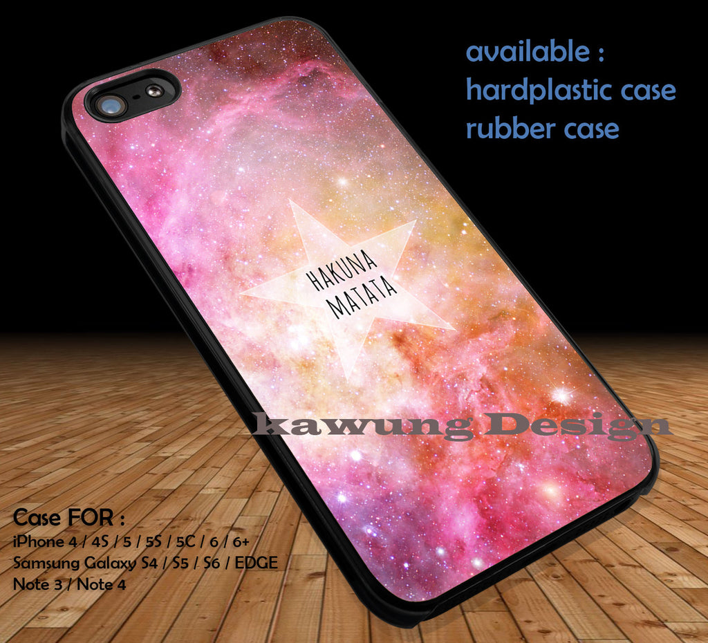 Colorful Nebula Hakuna Matata iPhone 6s 6 6s+ 5c 5s Cases Samsung Galaxy s5 s6 Edge+ NOTE 5 4 3 #cartoon #disney #animated #theLionKing DOP418 - Kawung Design  - 1