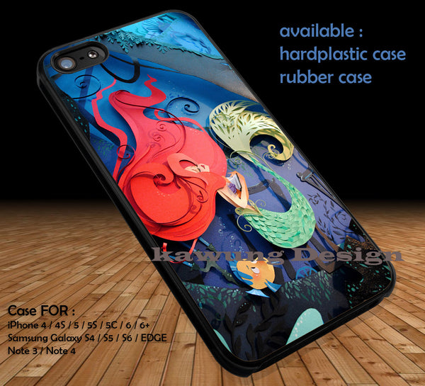 3D Art Paper Ariel iPhone 6s 6 6s+ 5c 5s Cases Samsung Galaxy s5 s6 Edge NOTE 5 4 3 #cartoon #disney #theLittleMermaid DOP41 - K-Designs