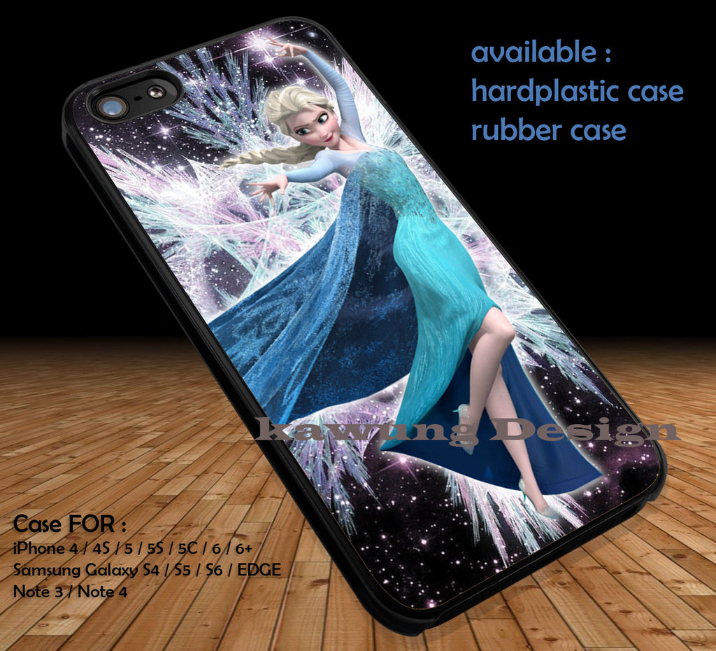 Andromeda Ice Elsa iPhone 6s 6 6s+ 5c 5s Cases Samsung Galaxy s5 s6 Edge+ NOTE 5 4 3 #cartoon #disney #animated  #frozen DOP43 - Kawung Design  - 1
