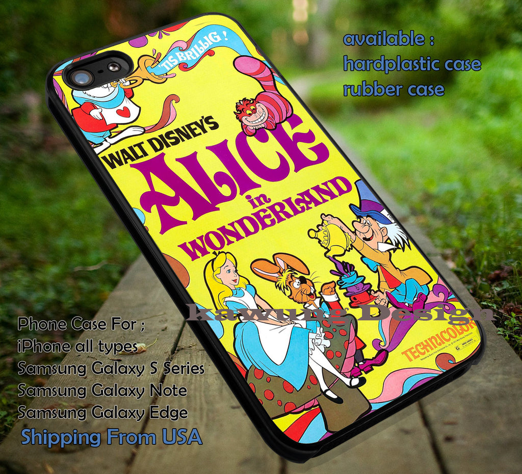 Book Cover Alice in Wonderland DOP611 case/cover for iPhone 4/4s/5/5c/6/6+/6s/6s+ Samsung Galaxy S4/S5/S6/Edge/Edge+ NOTE 3/4/5 #cartoon #anime #alice - Kawung Design  - 1
