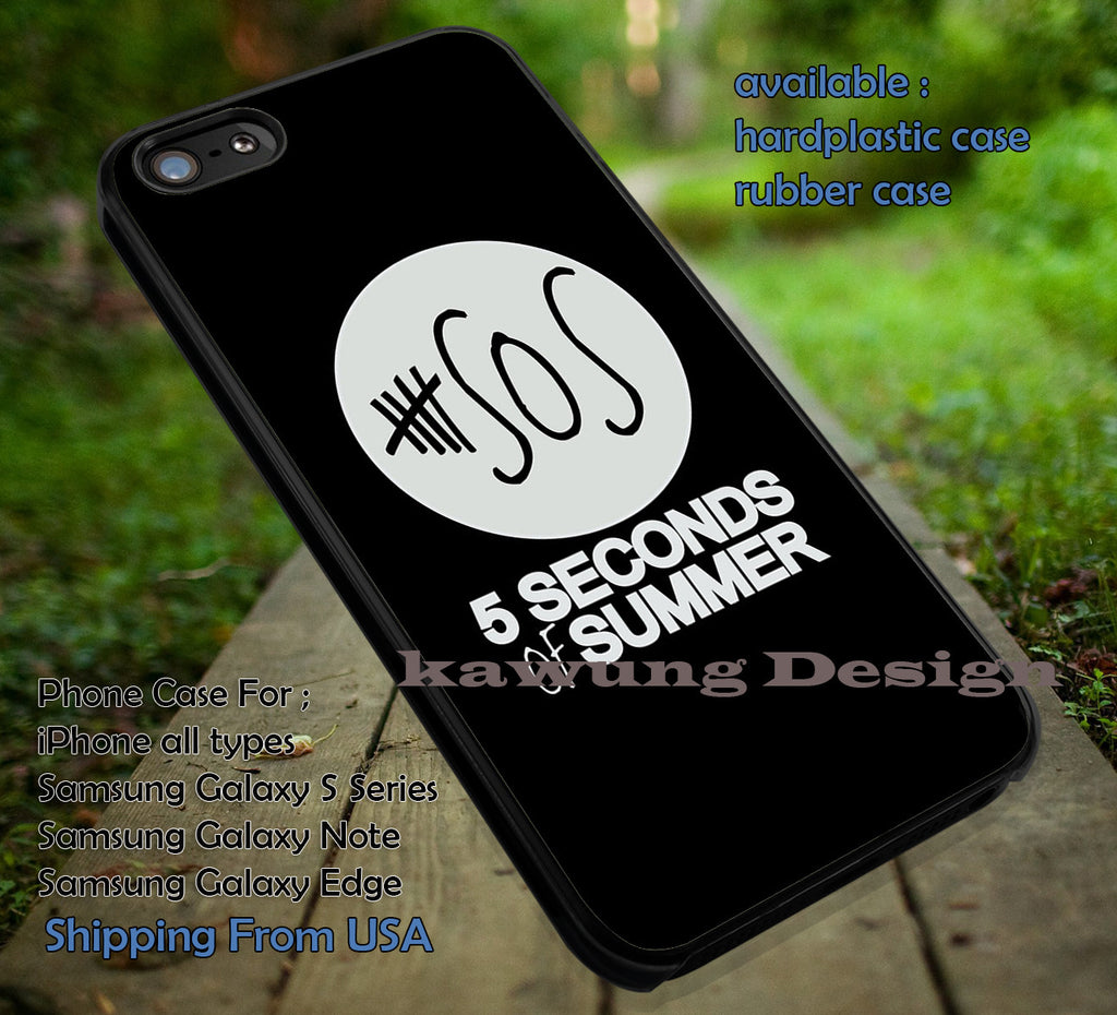 White on black logo -tri1, 5SOS,5 Second of Summer,5sos band,band case,music, DOP6 case/cover for iPhone 4/4s/5/5c/6/6+/6s/6s+ Samsung Galaxy S4/S5/S6/Edge/Edge+ NOTE 3/4/5 #music #5sos - Kawung Design  - 1