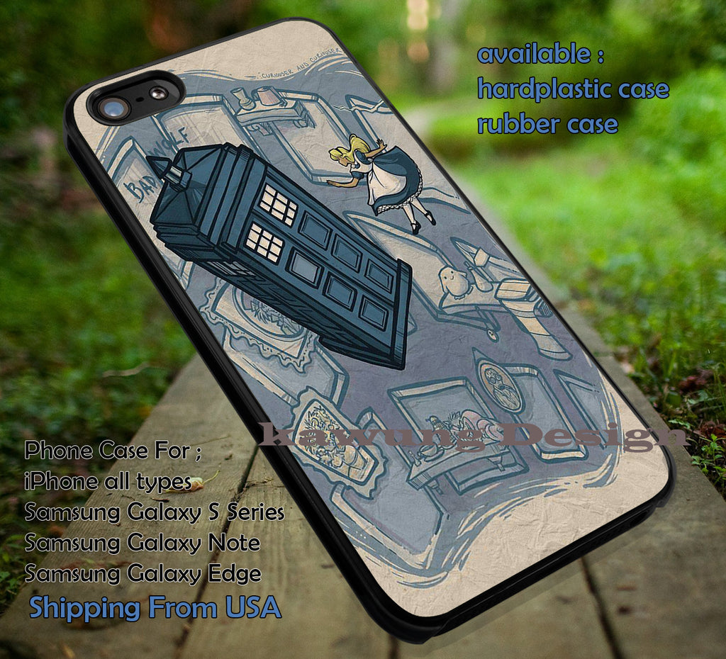 Alice in Wonderland and Blue Box DOP630 case/cover for iPhone 4/4s/5/5c/6/6+/6s/6s+ Samsung Galaxy S4/S5/S6/Edge/Edge+ NOTE 3/4/5 #cartoon #anime #alice - Kawung Design  - 1