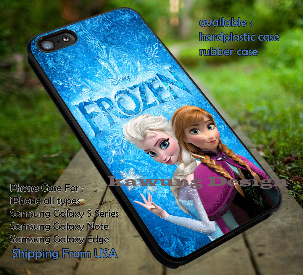 Forever Sister Frozen Anna and Elsa DOP657 case/cover for iPhone 4/4s/5/5c/6/6+/6s/6s+ Samsung Galaxy S4/S5/S6/Edge/Edge+ NOTE 3/4/5 #cartoon #disney #animated #frozen - Kawung Design  - 1