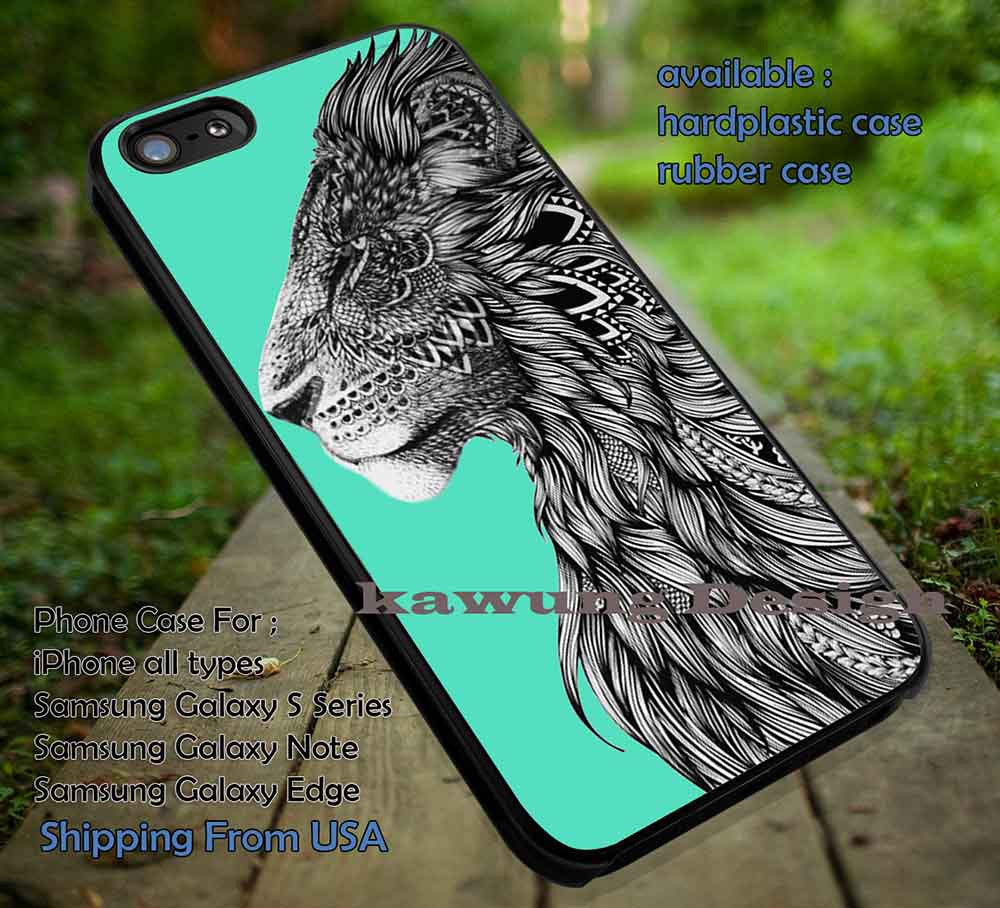 Black and White Lion Image iPhone 6s 6 6s+ 5c 5s Cases Samsung Galaxy s5 s6 Edge+ NOTE 5 4 3 #cartoon #disney #animated #theLionKing DOP65 - Kawung Design  - 1