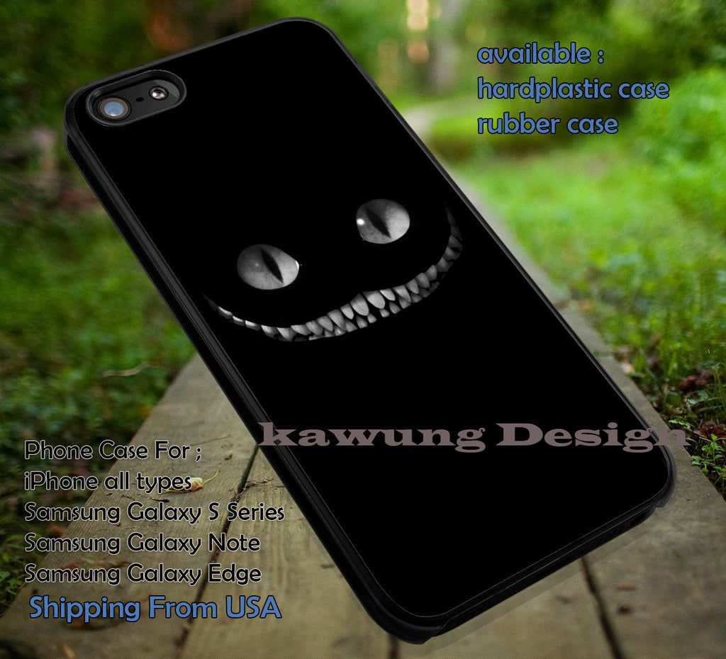 White Teeth Kitty Alice in Wonderland and Blue Box DOP665 case/cover for iPhone 4/4s/5/5c/6/6+/6s/6s+ Samsung Galaxy S4/S5/S6/Edge/Edge+ NOTE 3/4/5 #cartoon #anime #alice - Kawung Design  - 1