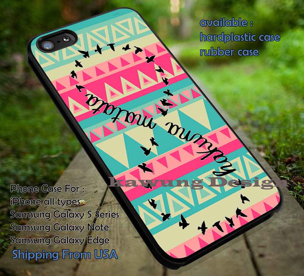 Black Birds Quote Tribal Pattern iPhone 6s 6 6s+ 5c 5s Cases Samsung Galaxy s5 s6 Edge+ NOTE 5 4 3 #quote DOP66 - Kawung Design  - 1
