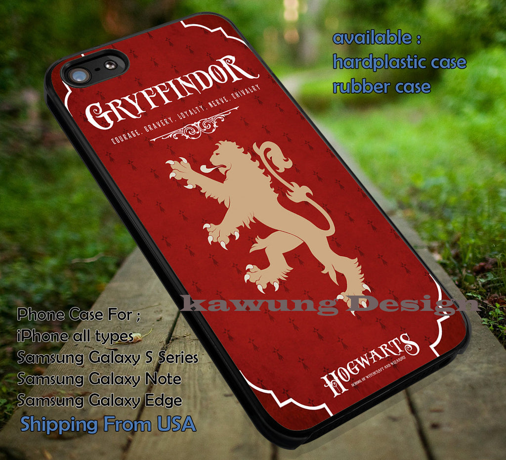 Hogwarts Gryffindor Harry Potter iPhone 6s 6plus 5s 5c Cases Samsung Galaxy S5 S6 Edge NOTE 5 4 3 #movie #harrypotter DOP7110 - Kawung Design  - 1