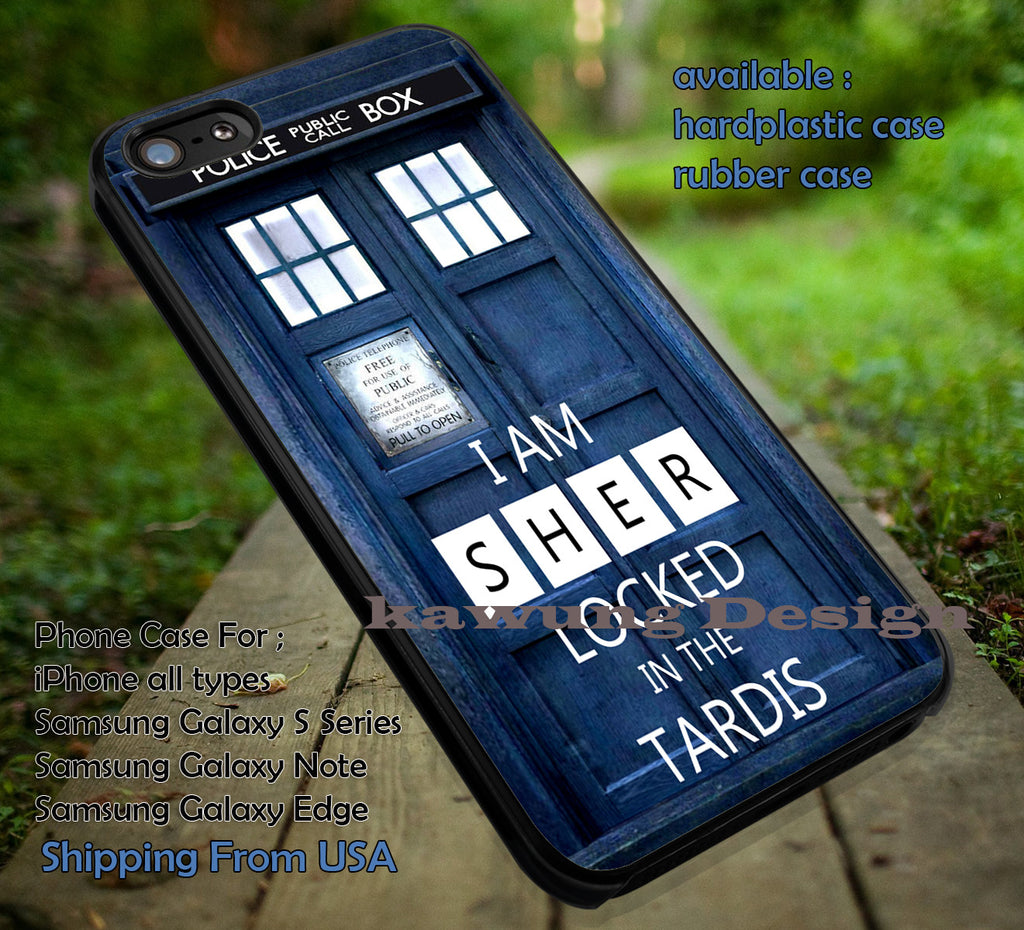Sherlock Holmes In The Tardis iPhone 4s 5s 5c 6s 6s+ Cases Samsung Galaxy S4/S5/S6/Edge/Edge+ NOTE 3/4/5 #movie #sherlock dop 7111 - Kawung Design  - 1