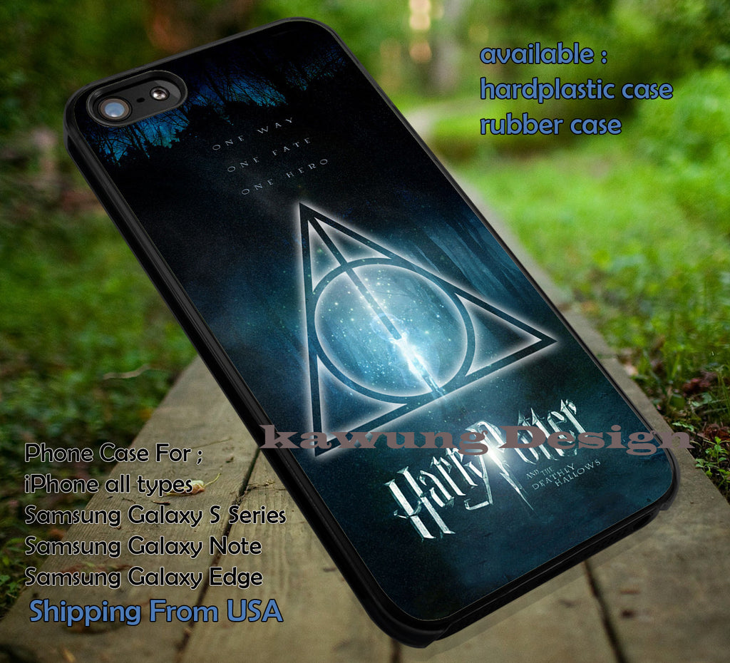 One Fate Hero and Way Harry Potter deathly hallows DOP7121  case/cover for iPhone 4/4s/5/5c/6/6+/6s/6s+ Samsung Galaxy S4/S5/S6/Edge/Edge+ NOTE 3/4/5 #movie #hp - Kawung Design  - 1