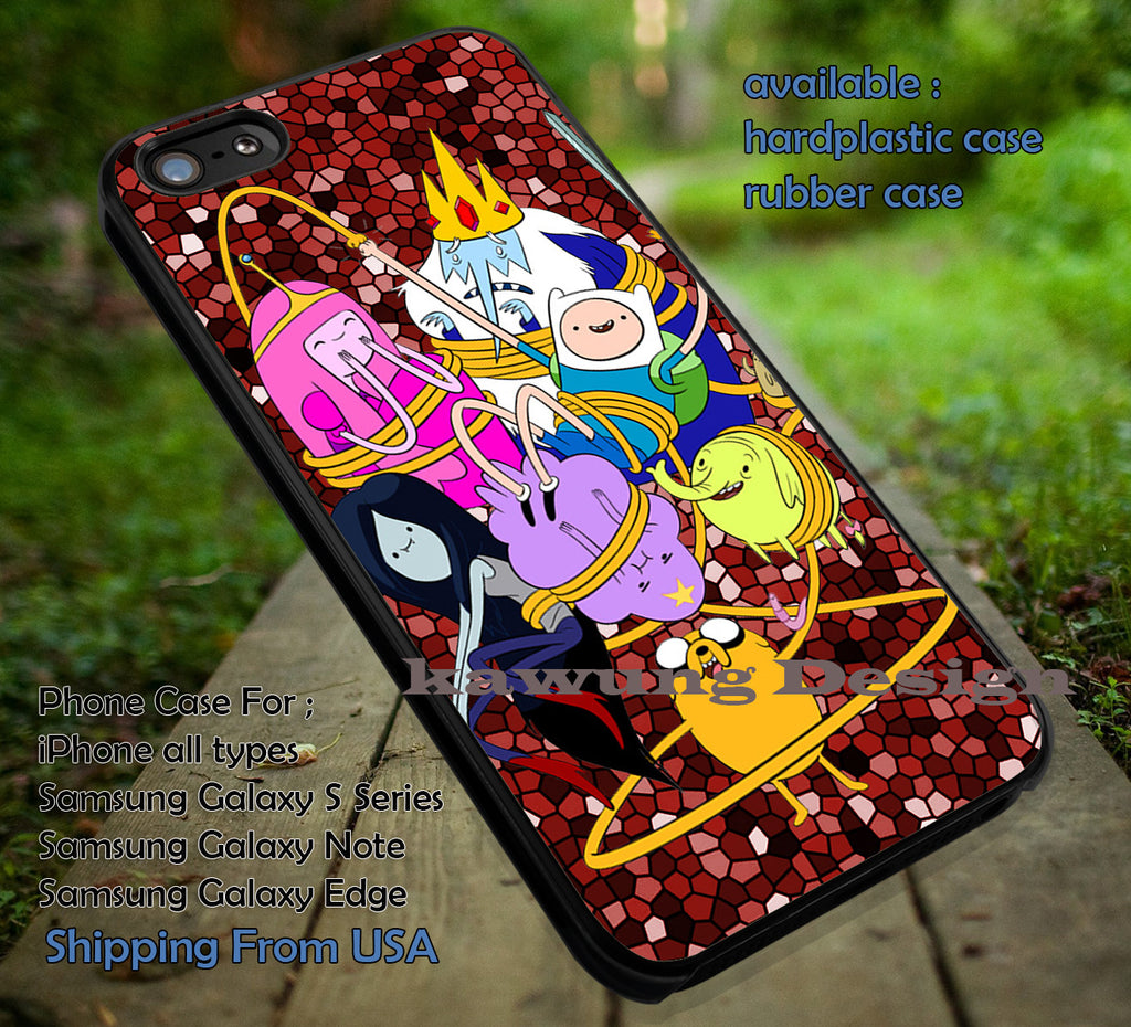 Cute Cartoon Advanture Time With Finn and Jake DOP713 case/cover for iPhone 4/4s/5/5c/6/6+/6s/6s+ Samsung Galaxy S4/S5/S6/Edge/Edge+ NOTE 3/4/5 #cartoon #anime - Kawung Design  - 1