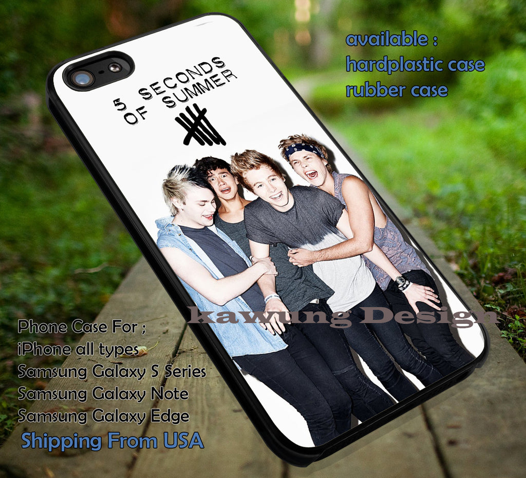 Album Cover 5 Seconds of Summer Looks So perfect  DOP7152 case/cover for iPhone 4/4s/5/5c/6/6+/6s/6s+ Samsung Galaxy S4/S5/S6/Edge/Edge+ NOTE 3/4/5 #music #5sos - Kawung Design  - 1