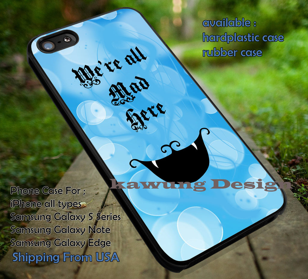 Cheshire Cat Alice in Wonderland DOP73 case/cover for iPhone 4/4s/5/5c/6/6+/6s/6s+ Samsung Galaxy S4/S5/S6/Edge/Edge+ NOTE 3/4/5 #cartoon #anime #alice - Kawung Design  - 1