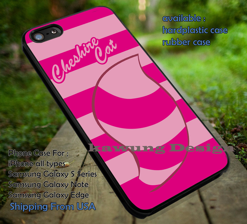 Pinky Tail Cheshire Cat Alice in Wonderland DOP47 case/cover for iPhone 4/4s/5/5c/6/6+/6s/6s+ Samsung Galaxy S4/S5/S6/Edge/Edge+ NOTE 3/4/5 #cartoon #anime #alice - Kawung Design  - 1