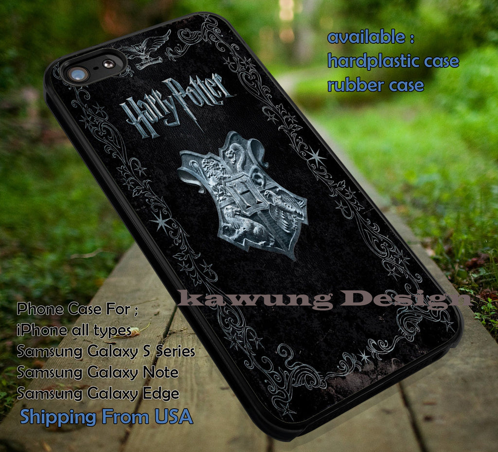 Book Cover Harry Potter Deathly Hallows iPhone X 8+ 7 6s Cases Samsung Galaxy S8 S7 edge NOTE 8 5 4