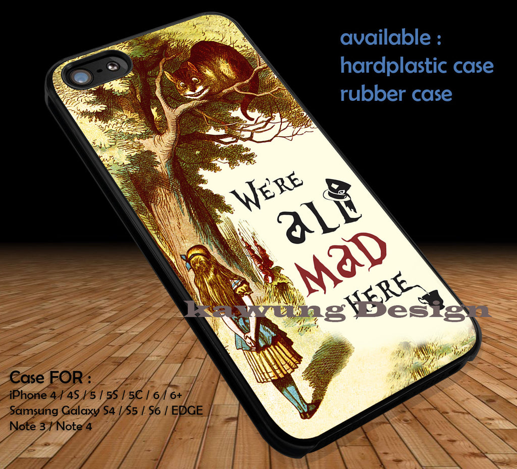 Alice in Wonderland Quotes DOP53 case/cover for iPhone 4/4s/5/5c/6/6+/6s/6s+ Samsung Galaxy S4/S5/S6/Edge/Edge+ NOTE 3/4/5 #cartoon #anime #alice - Kawung Design  - 1