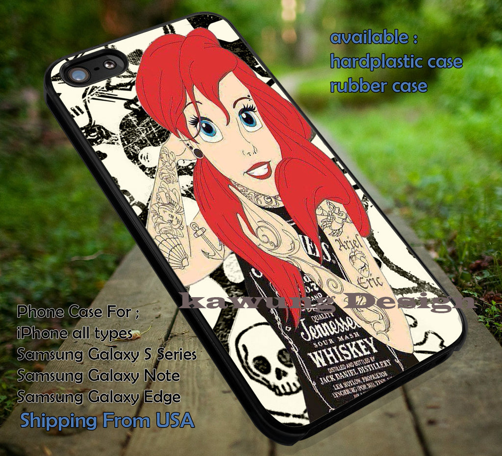 Ariel's Tattoo The Little Mermaid DOP577 case/cover for iPhone 4/4s/5/5c/6/6+/6s/6s+ Samsung Galaxy S4/S5/S6/Edge/Edge+ NOTE 3/4/5 #cartoon #disney #animated #thelittlemermaid - Kawung Design  - 1