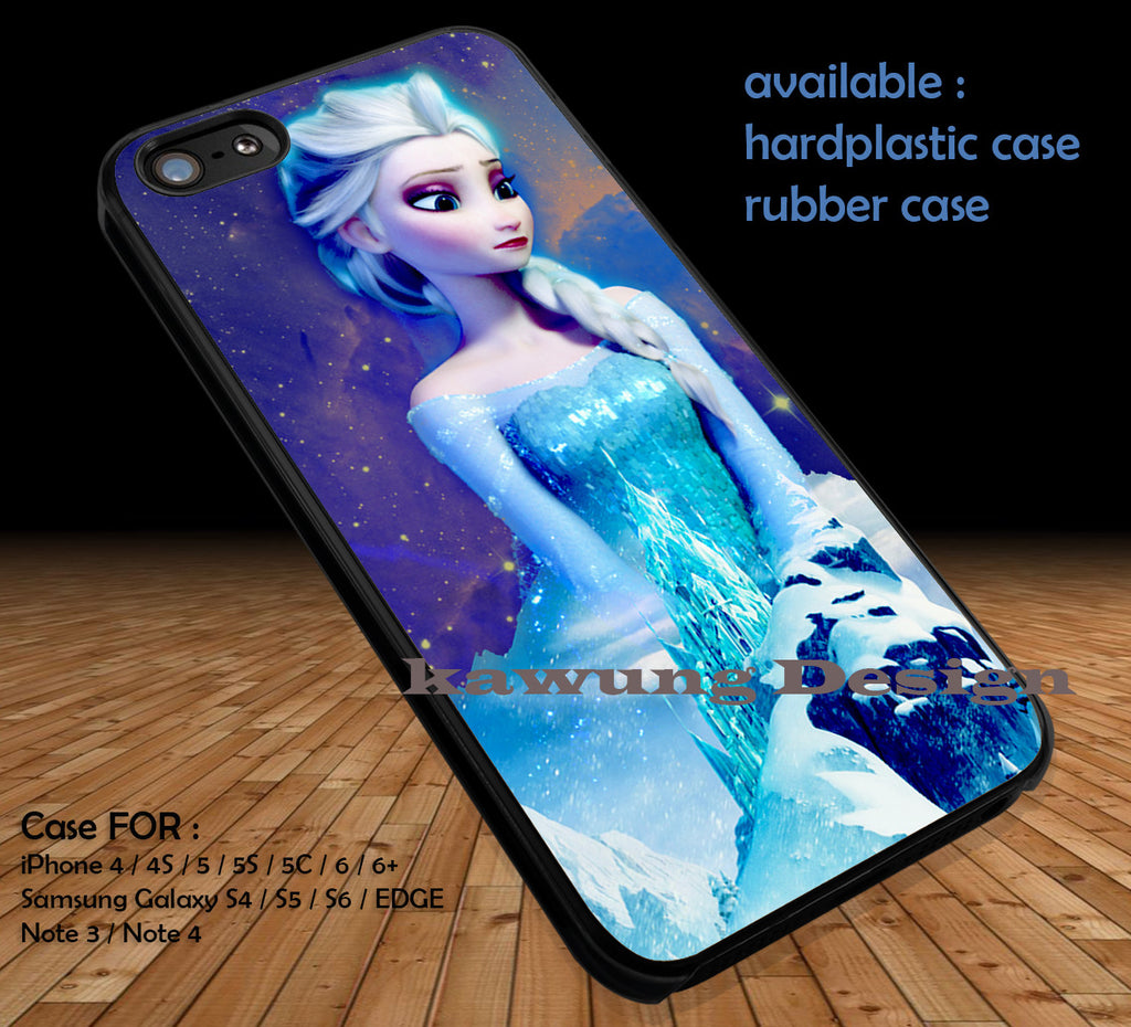 Beautiful Elsa Frozen DOP57 case/cover for iPhone 4/4s/5/5c/6/6+/6s/6s+ Samsung Galaxy S4/S5/S6/Edge/Edge+ NOTE 3/4/5 #cartoon #disney #animated #frozen - Kawung Design  - 1