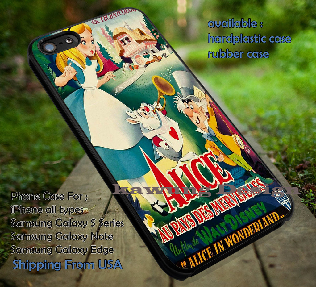 Book Cover Alice in Wonderland DOP87 case/cover for iPhone 4/4s/5/5c/6/6+/6s/6s+ Samsung Galaxy S4/S5/S6/Edge/Edge+ NOTE 3/4/5 #cartoon #anime #alice - Kawung Design  - 1