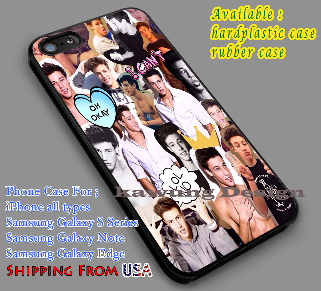 Cameron Dallas Collage iPhone 6s 6 6s+ 5c 5s Cases Samsung Galaxy s5 s6 Edge+ NOTE 5 4 3 #movie #MagconBoys dl7 - Kawung Design  - 1