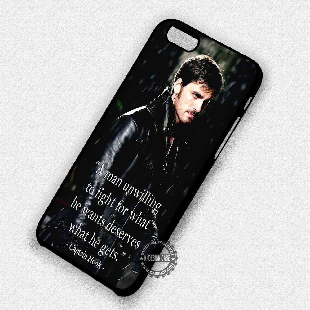 Deserves Captain Hook Quote Once Upon A Time - iPhone 7 6 Plus 5c 5s SE Cases & Covers - Kawung Design  - 1