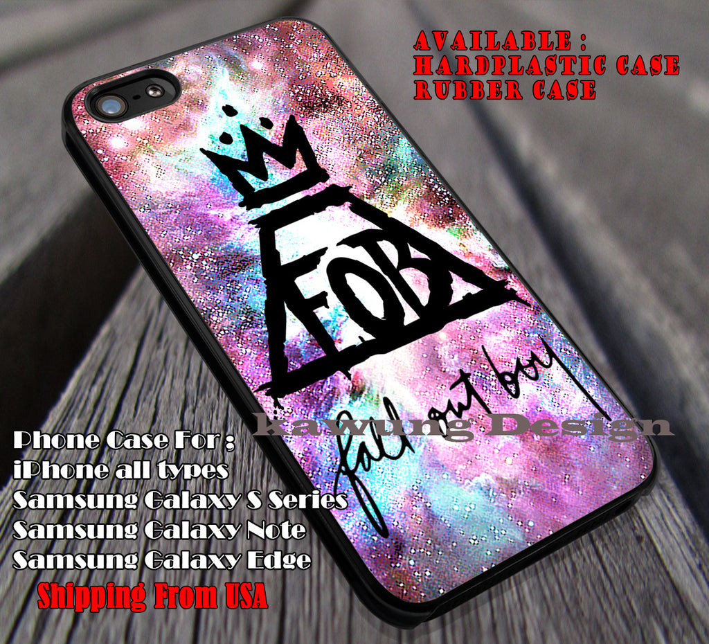 FOB galaxy nebula, FOB, fall out boy, case/cover for iPhone 4/4s/5/5c/6/6+/6s/6s+ Samsung Galaxy S4/S5/S6/Edge/Edge+ NOTE 3/4/5 #music #fob ii - Kawung Design  - 1