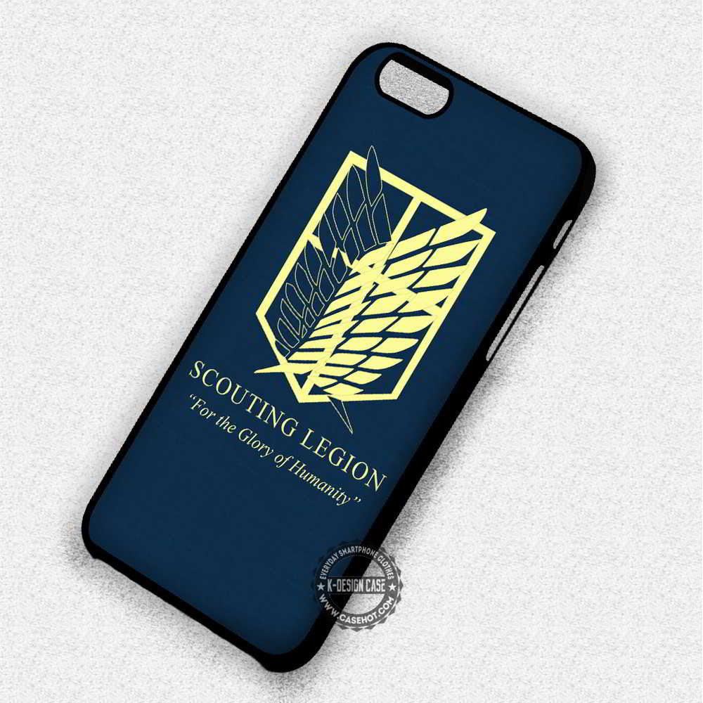 Glory of Humanity Attack on Titan Scouting Legion - iPhone 7 6 Plus 5c 5s SE Cases & Covers - Kawung Design  - 1