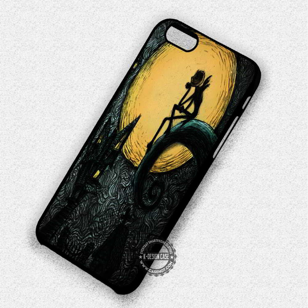Fullmoon Nightmare Before Christmas Jack Skelington - iPhone 7 6 Plus 5c 5s SE Cases & Covers - Kawung Design  - 1