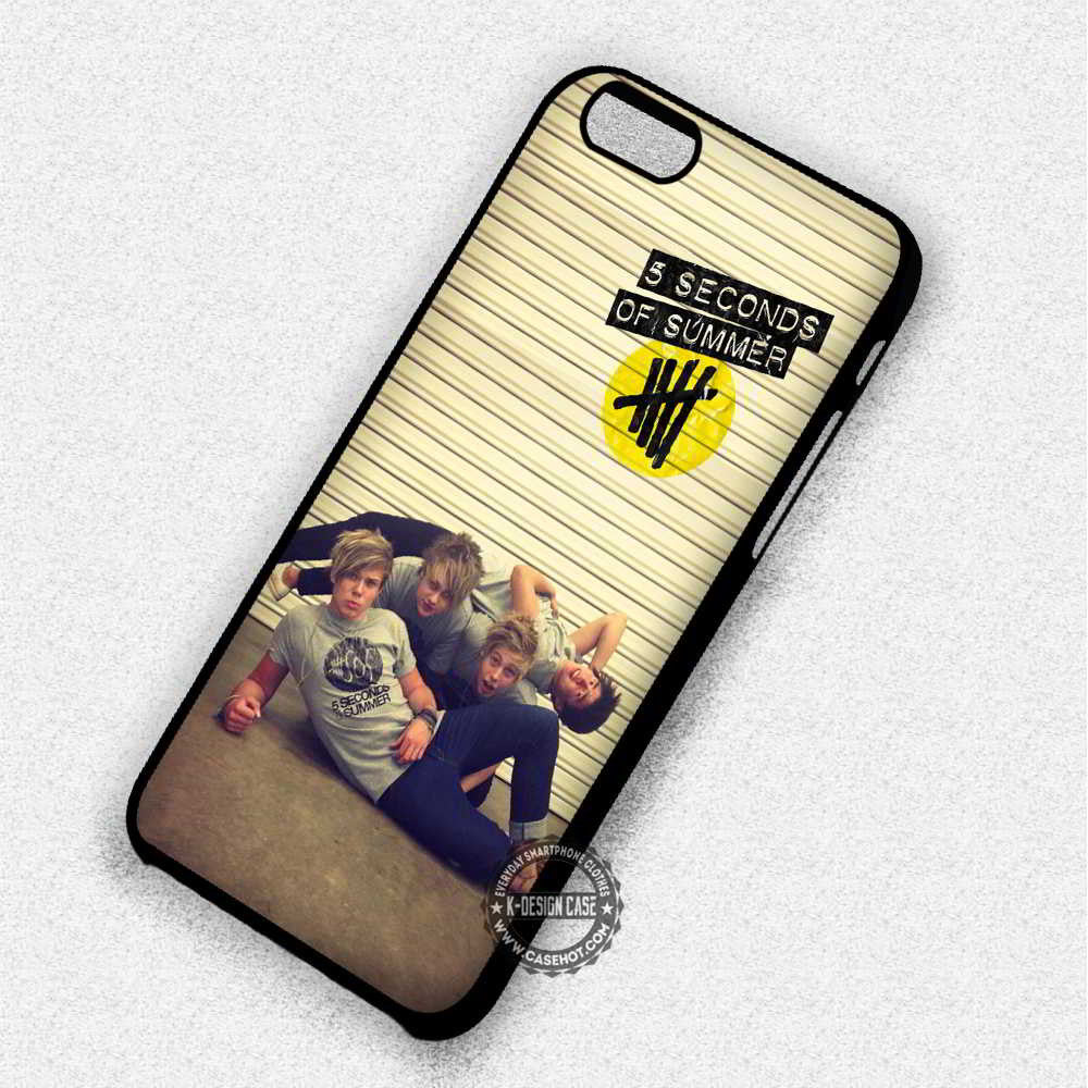 5 Seconds Of Summer Funny Photo Pose - iPhone 7 6 5 SE Cases & Covers - Kawung Design  - 1