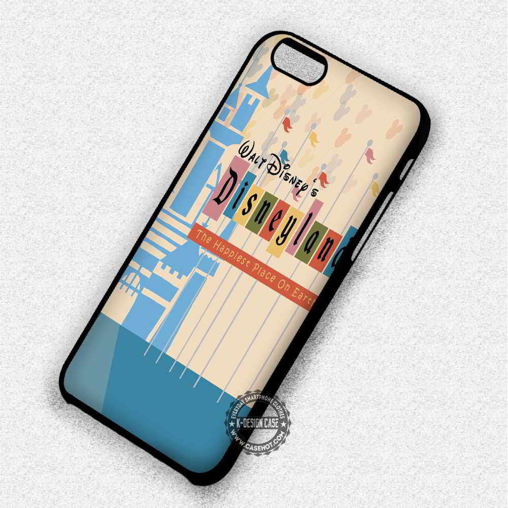 Happiest Place On Earth World Disney - iPhone 7 6 Plus 5c 5s SE Cases & Covers - Kawung Design  - 1