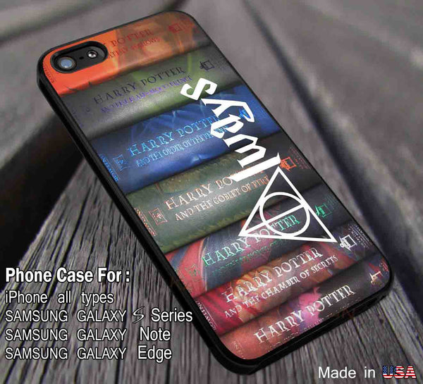 Harry Potter Books iPhone 6s 6 6s+ plus 5s 5c 4s Cases Samsung Galaxy s4 s5 s6 Edge+ NOTE 5 4 3 Covers #movie #HarryPotter dl5 - Kawung Design  - 1