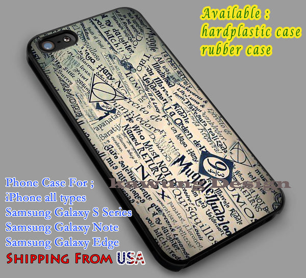Harry Potter Collage iPhone 6s 6 6s+ 6plus Cases Samsung Galaxy s5 s6 Edge+ NOTE 5 4 3 #movie #HarryPotter dl5 - Kawung Design  - 1